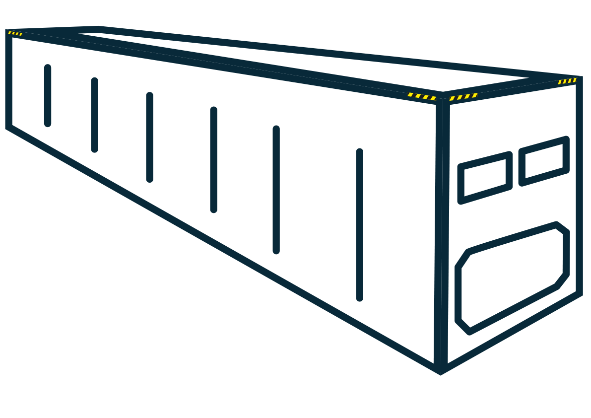 40' high cube reefer container